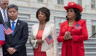 Rep. Maxine Waters' call last weekend for supporters to confront Trump cabinet members resulted in a warning by the president and a condemnation by the NRCC. (Associated Press)