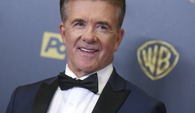 Alan Thicke poses in the pressroom at the 42nd annual Daytime Emmy Awards at Warner Bros. Studios in Burbank, Calif. On Tuesday, Dec. 13, 2016, Thicke collapsed while playing ice-hockey with his son Carter in Burbank, CA.  Thicke died of type-A aortic dissection at the Providence Saint Joseph Medical Center in Burbank, at the age of 69. (Photo by Richard Shotwell/Invision/AP)