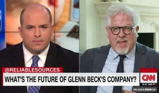 Glenn Beck stormed out of a CNN interview Sunday after host Brian Stelter confronted the conservative radio host about his reportedly troubled media empire. (CNN)