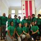 """Members of the """"Birth to Three Policy Alliance"""" waited in matching shirts outside the D.C. Council chambers Tuesday and cheered when they heard that the council unanimously approved legislation funding early childhood education iniatitives they had supported for the 10 years. (Julia Airey/ The Washington Times)"""