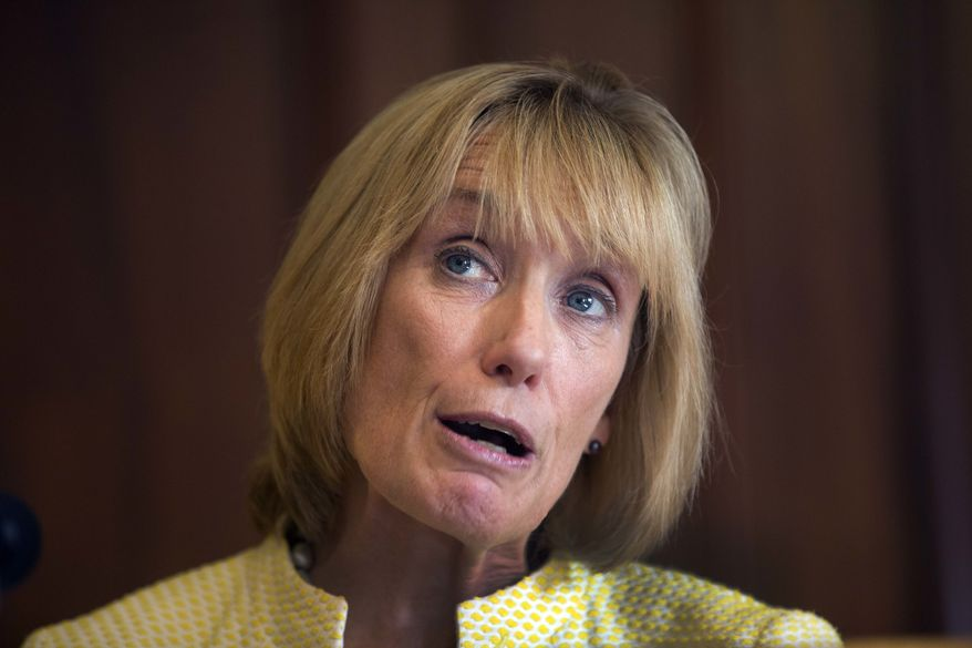 """This behavior shouldn't be equated with the president's destructive and divisive actions ... this young woman immediately accepted responsibility for her actions and is facing consequences for them. The president is doing neither,"" Sen. Maggie Hassan, New Hampshire Democrat, said. (Associated Press)"