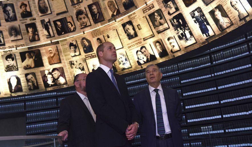 Znalezione obrazy dla zapytania Yad Vashem prince william