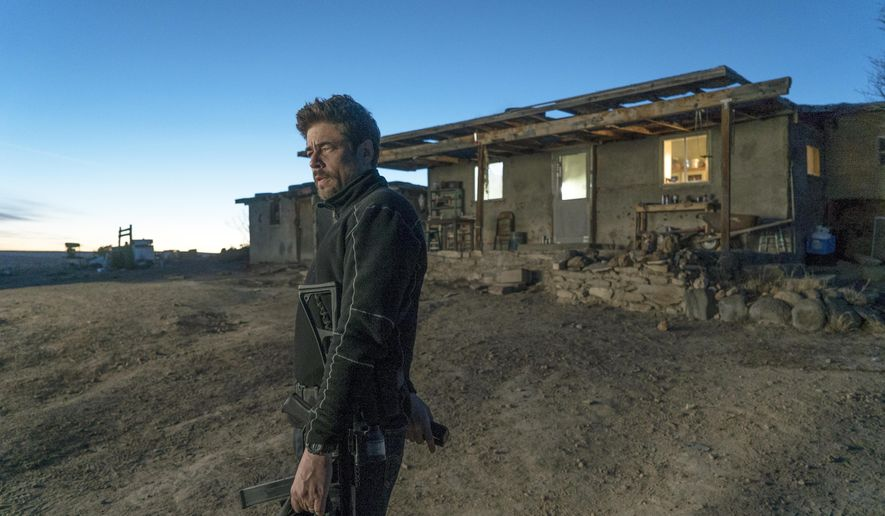"This image released by Sony Pictures shows Benicio Del Toro in ""Sicario: Day of the Soldado."" (Richard Foreman, Jr./Sony Pictures via AP)"