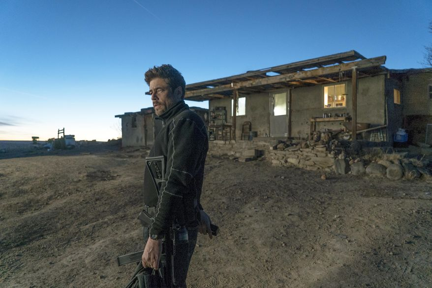 """This image released by Sony Pictures shows Benicio Del Toro in """"Sicario: Day of the Soldado."""" (Richard Foreman, Jr./Sony Pictures via AP)"""
