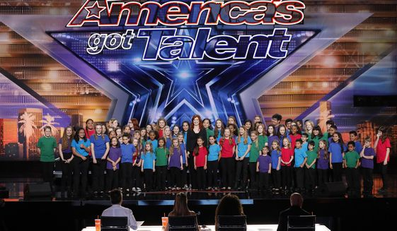 "In this image released by NBC, the Voices of Hope Children's Choir appear on stage during ""America's Got Talent,"" in Pasadena, Calif. The talent competition series dominated the ratings last week. (Trae Patton/NBC via AP) ** FILE **"