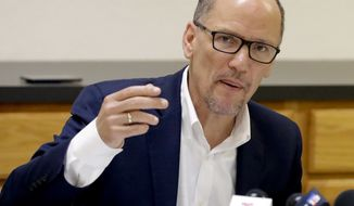 """""""We cannot let that happen again. This November, you won't just be deciding the next Congress, you will be deciding the direction America goes in for the next half-century,"""" said Tom Perez."""