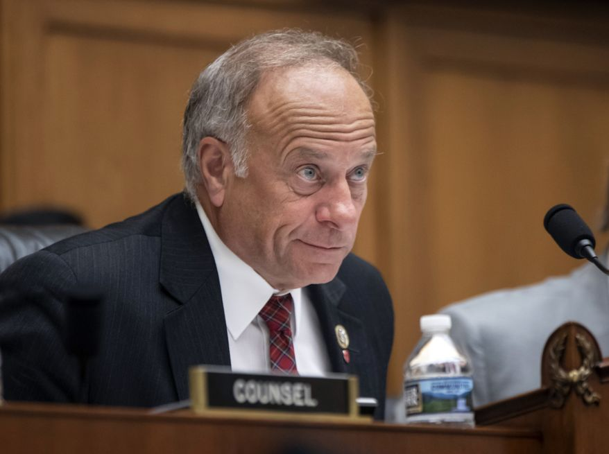 """""""This Congress was not elected to pass a sweeping amnesty,"""" said Rep. Steve King, Iowa Republican. """"Instead of wasting our time granting legal protections to admitted criminals, we should be addressing the border security agenda the American people want."""" (Associated Press)"""