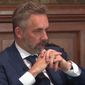Clinical psychologist Jordan B. Peterson speaks to the Oxford Union during a May 2018 Q&A session. The full event was uploaded to YouTube on June 24, 2018. (Image: YouTube, Oxford Union screenshot) ** FILE **