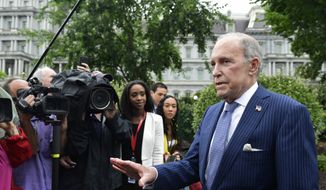 White House National Economic Council Director Larry Kudlow speaks with reporters at the White House in Washington, Wednesday, June 27, 2018. (AP Photo/Susan Walsh) ** FILE **