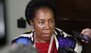 Rep. Sheila Jackson Lee, D-Texas, speaks as she departs a deposition before the House Judiciary Committee by Peter Strzok, the FBI agent facing criticism following a series of anti-Trump text messages, on Capitol Hill, Wednesday, June 27, 2018 in Washington. (AP Photo/Alex Brandon)