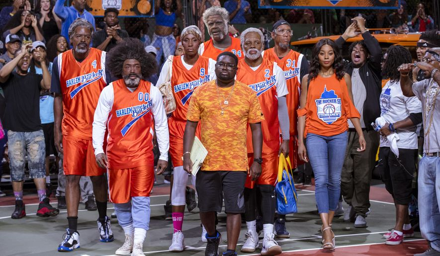 "This image released by Lionsgate shows a scene from the film, ""Uncle Drew."" (Quantrell Colbert/Lionsgate via AP)"