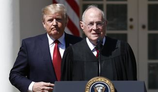 The retirement of Supreme Court Justice Anthony M. Kennedy gives President Trump a chance to name a reliably across-the-board conservative. (Associated Press/File)