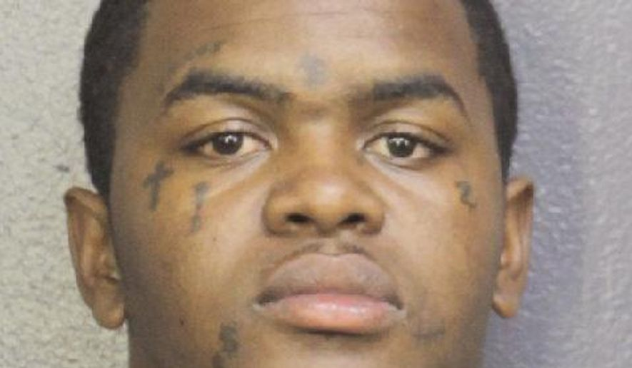 This photo provided by Broward Sheriff's Office shows Dedrick Devonshay Williams. Williams was arrested Wednesday, June 20, 2018, in the shooting death of rapper XXXTentacion.  (Broward Sheriff's Office via AP)