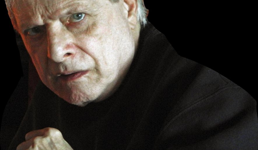 """This March 13, 2012 photo provided by Steve Barber shows author Harlan Ellison in the Sherman Oaks neighborhood of Los Angeles. Ellison, the prolific, pugnacious author of """"A Boy and His Dog,"""" and countless other stories that blasted society with their nightmarish, sometimes darkly humorous scenarios, has died at age 84. Ellison's death was confirmed Thursday, June 28, 2018. During a career that spanned more than half a century, Ellison wrote some 50 books and more than 1,400 articles, essays, TV scripts and screenplays. (Courtesy Steve Barber via AP)"""
