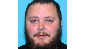 FILE - This undated file photo provided by the Texas Department of Public Safety shows Devin Patrick Kelley. An autopsy released Thursday, June 28, 2018, by the Travis County Medical Examiner's Office, confirmed that Kelley, who killed more than two dozen people at the First Baptist Church in Sutherland Springs, Texas last year, died from a self-inflicted gunshot wound to the head. (Texas Department of Public Safety via AP, File)
