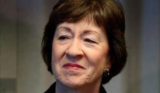 Sen. Susan Collins. (Associated Press) ** FILE **
