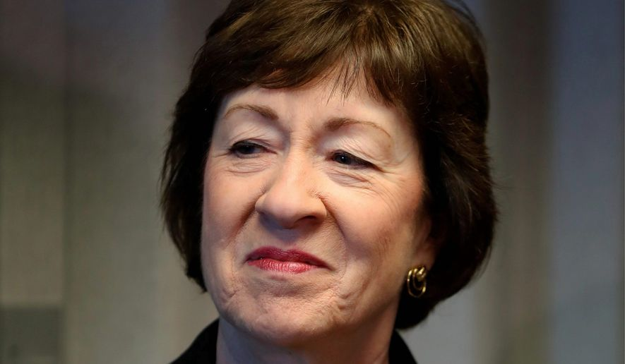 Sen. Susan Collins. (Associated Press) ** FILE **