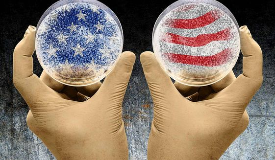 The American Experiment Illustration by Greg Groesch/The Washington Times