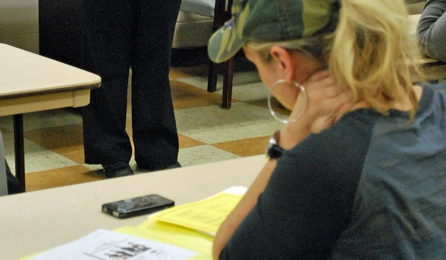 Military spouses receive instruction about how to apply for jobs at Fort Campbell, Ky. (AP Photo/Kristin M. Hall)