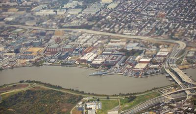 The Naval Yard Complex along the Anacostia River in Washington D.C. (AP Photo/Pablo Martinez Monsivais)