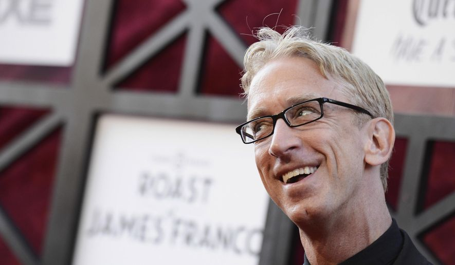 In this Aug. 25, 2013, file photo, actor and comedian Andy Dick arrives at the Comedy Central Roast of James Franco at The Culver Studios in Culver City, Calif. (Photo by Dan Steinberg/Invision/AP, File)