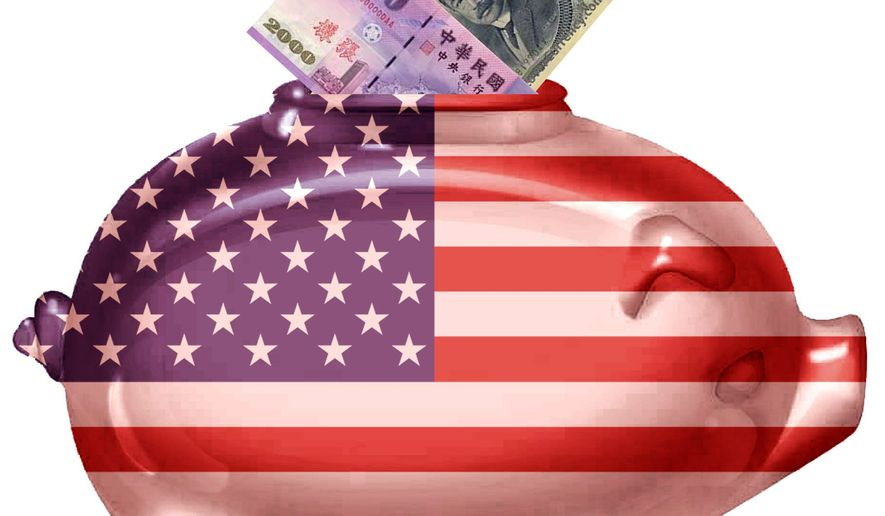 Illustration on foreign investment in the U.S. by Alexander Hunter/The Washington Times