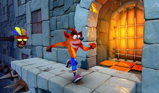 The iconic, orange-haired marsupial returns to challenge players in the video game collection Crash Bandicoot N. Sane Trilogy. (Courtesy of Activision)