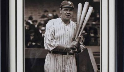 Historic shots from The Ring Magazine archives, including Babe Ruth, will be among the hundreds of items auctioned in the District later this month at the All-Star FanFest. (Hunt Auctions)