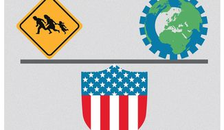 """Illustration on the realities of """"comparative advantage"""" economic theory by Linas Garsys/The Washington Times"""