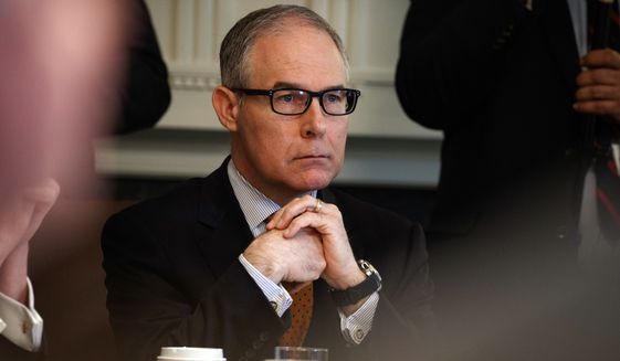 President Trump dropped the boom on Environmental Protection Agency Administrator Scott Pruitt last week. (Associated Press/File)