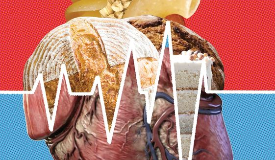 Illustration on the harmful effects of carbohydrates by Linas Garsys/The Washington Times