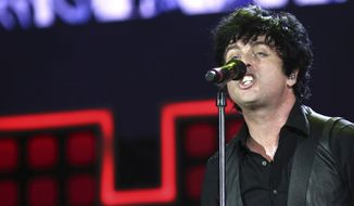 Billie Joe Armstrong of Green Day performs at the Global Citizen Festival in Central Park on Saturday, Sept. 23, 2017, in New York. (Photo by Greg Allen/Invision/AP)