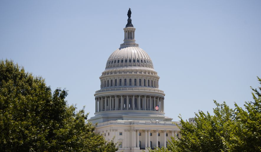 The U.S. Capitol dome is seen, Monday, July 9, 2018, in Washington. (AP Photo/Carolyn Kaster) ** FILE **
