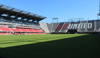 Audi Field, the new stadium in Washington, D.C. for Major League Soccer club D.C. United, was formally unveiled in a ribbon-cutting ceremony on Monday, July 9, 2018. (Photo by Adam Zielonka / The Washington Times)