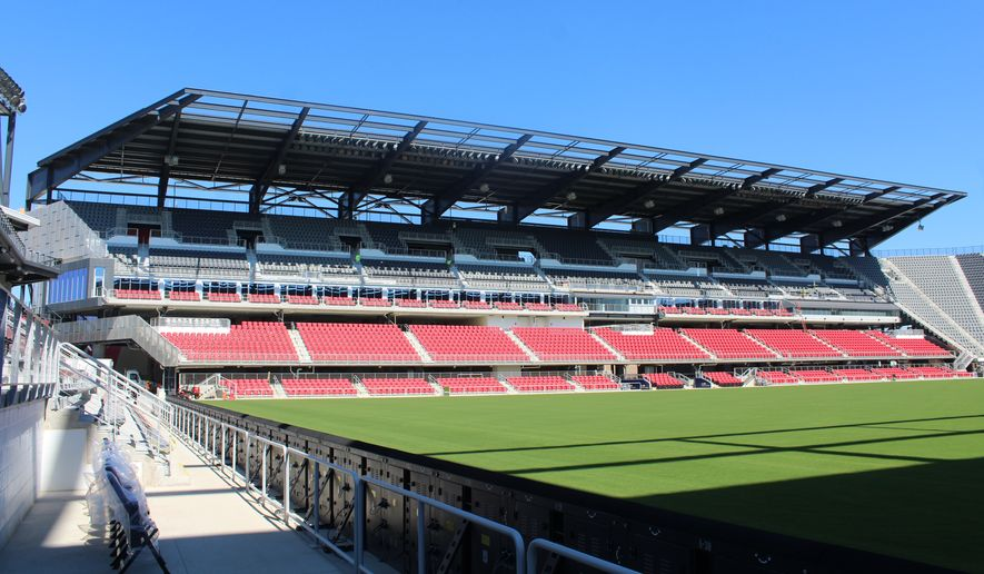 Audi Field, the new stadium in Washington, D.C. for Major League Soccer club D.C. United, was formally unveiled in a ribbon-cutting ceremony on Monday, July 9, 2018. (Photo by Adam Zielonka / The Washington Times) **FILE**