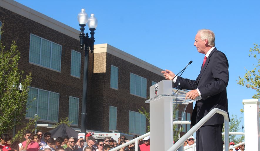Washington, D.C. Council member Jack Evans speaks at the ribbon-cutting ceremony for Audi Field, the new stadium in Washington for Major League Soccer club D.C. United, on Monday, July 9, 2018. (Photo by Adam Zielonka/The Washington Times) ** FILE **
