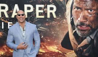 "Actor Dwayne Johnson attends the ""Skyscraper"" premiere at AMC Loews Lincoln Square on Tuesday, July 10, 2018, in New York. (Photo by Evan Agostini/Invision/AP)"