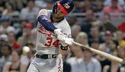 Washington Nationals' Bryce Harper bats during a baseball game against the Pittsburgh Pirates in Pittsburgh, Tuesday, July 10, 2018. (AP Photo/Gene J. Puskar)