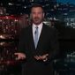 Late-night TV host Jimmy Kimmel said Monday that President Trump completely fabricated a story he told about the comedian at a South Carolina rally last month. (ABC)