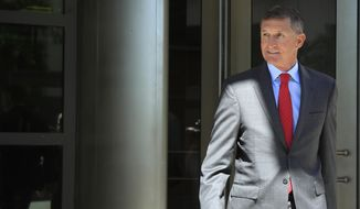 Former Trump national security adviser Michael Flynn leaves federal courthouse in Washington, Tuesday, July 10, 2018, following a status hearing. (AP Photo/Manuel Balce Ceneta)