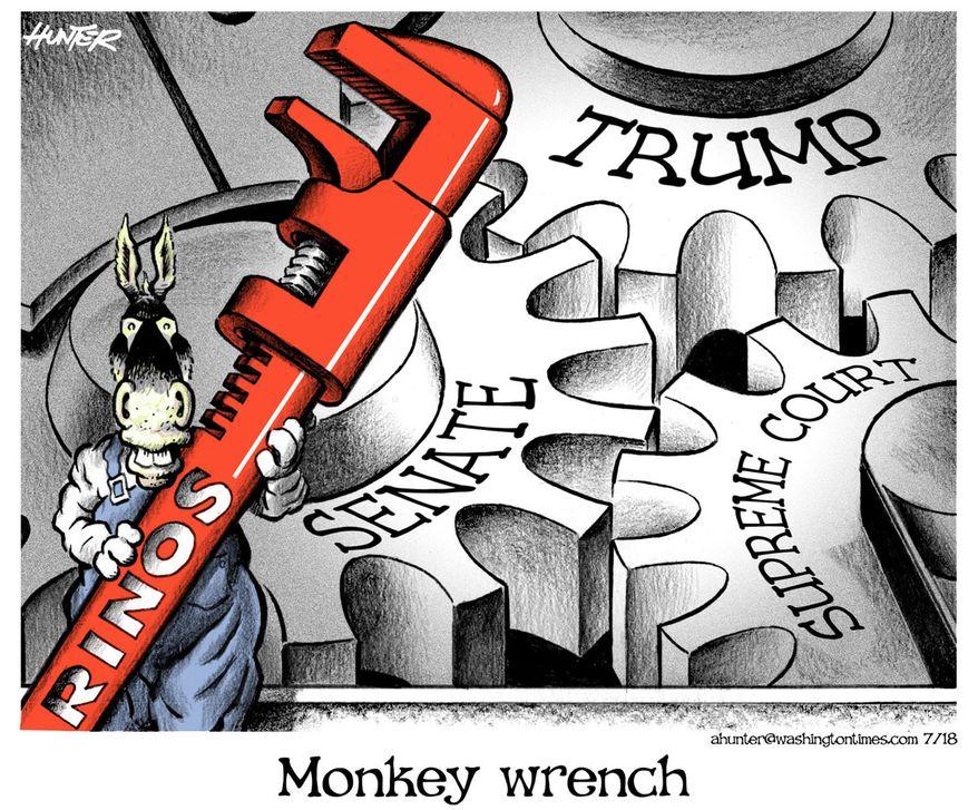 Illustration by Alexander Hunter for The Washington Times (published July 11, 2018)