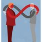 Illustration on reciprocity and international relations by Linas Garsys/The Washington Times