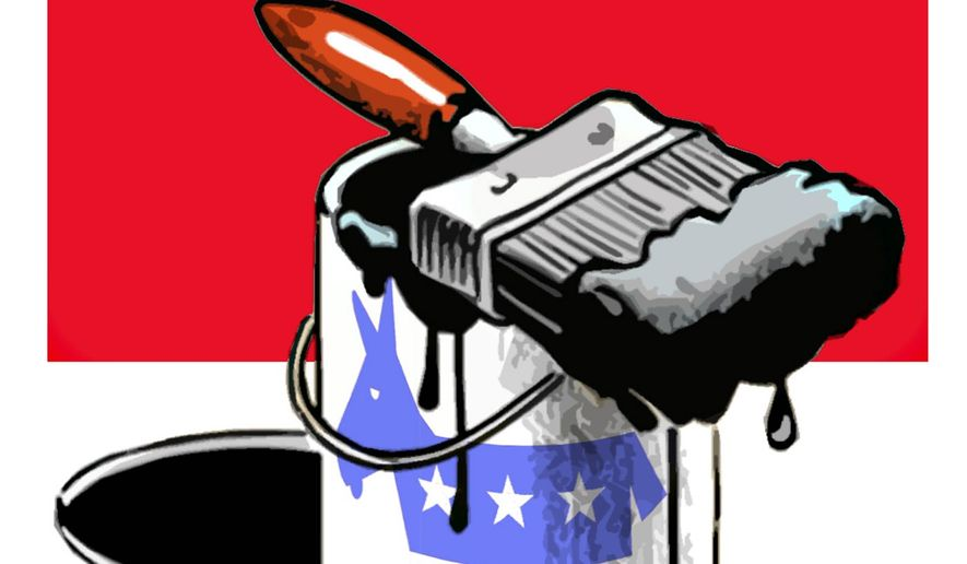 Illustration on manufactured scandals against Jim Jordan by Alexander Hunter/The Washington Times