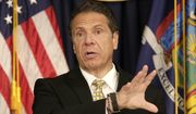 New York Governor Andrew Cuomo speaks during a news conference in New York, Tuesday, June 5, 2018. Cuomo was announcing new gun control legislation that would aim to prevent mass shootings at schools. (AP Photo/Seth Wenig)