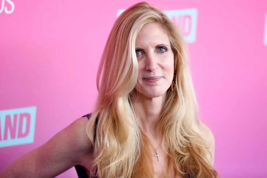 Ann Coulter arrives at the 2016 TV Land Icon Awards at Barker Hangar on Sunday, April 10, 2016, in Santa Monica, Calif. (Photo by Rich Fury/Invision/AP) **FILE**