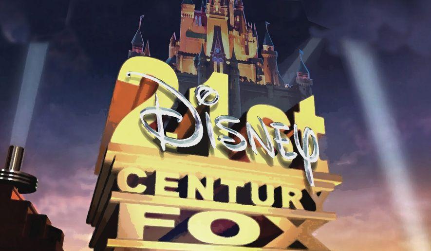 Illustration on the Disney/Fox merger      The Washington Times