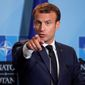 French President Emmanuel Macron. (Associated Press)