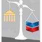 Illustration on the Chevron decision and it's legal implications by Linas Garsys/The Washington Times