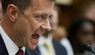 "FBI Deputy Assistant Director Peter Strzok testifies before the House Committees on the Judiciary and Oversight and Government Reform during a hearing on ""Oversight of FBI and DOJ Actions Surrounding the 2016 Election,"" on Capitol Hill, Thursday, July 12, 2018, in Washington. (AP Photo/Evan Vucci) ** FILE **"