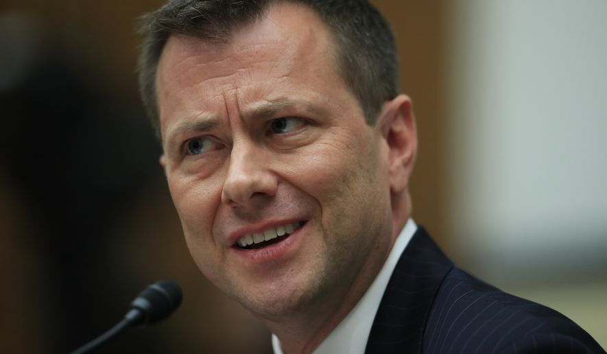 Peter Strzok thought a major takedown of a president would help his career, according to a transcript of testimony from his former lover. (Associated Press/File)